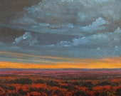 Southwestern Sunset. Print. 11 X 13.75