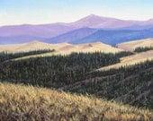 Mountain View, western art, original Painting 18 X 24, Free Shipping.