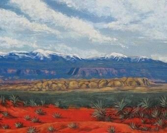 Southwestern Desert. Print. 9 1/2 X 16