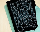 Hand-printed Father's Day Card -- Fabulous