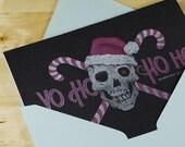 Hand-printed Christmas Card -- Yo Ho Ho Ho Pirate