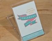 2012 Calendar -- SALE -- Teeny-Tiny But Still Pretty Colorful Calendar