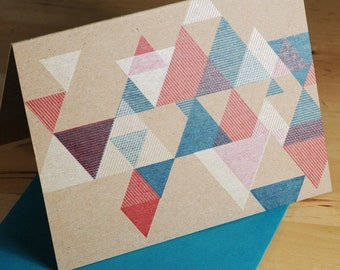 Hand-printed Triangular Pattern card
