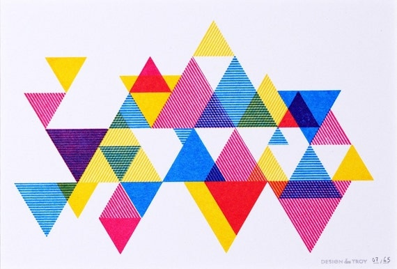 Process Color Triangle Print