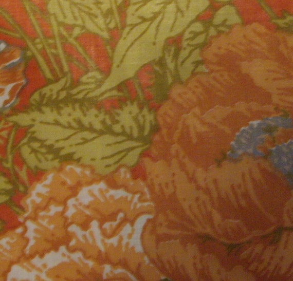2 Plus Yards Vintage Floral Upholstery Fabric
