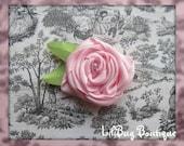 LiliBug Pink Rose Pearl Flower Hair Clip
