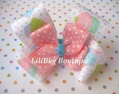 LiliBug Layered Birthday Cupcake Celebration Hair Bow
