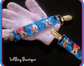LiliBug Mickey Mouse Clubhouse Mitten Clip Set - Attaches Gloves to Coat