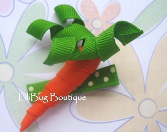 LiliBug Easter Carrot II Hair Clip