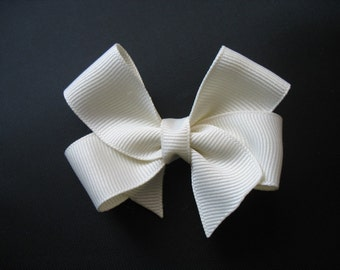 LiliBug Ivory Cream Hair Bow