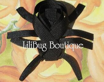 LiliBug Halloween SPOOKY Black Spider