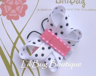 LiliBug Mini Newborn Butterfly Snap Hair Clip