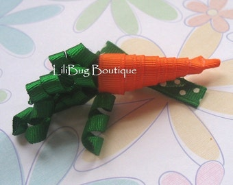 LiliBug EASTER Carrot Hair Clip