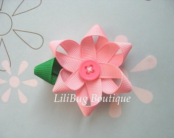 LiliBug Pink Flower Hair Bow
