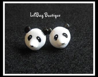 Girls Zoo Panda Post Stud Earring Set - Adorable