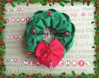 NEW - Winter Christmas Wreath Hair Clip