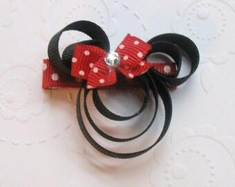 LiliBug Minnie Mouse Hair Clippie