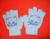 Retro Cat Fingerless Gloves