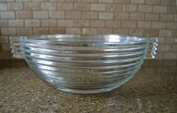 Art Deco Glass Serving Bowl