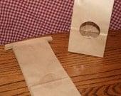 100 Half Pound Kraft Tin Tie Bags with Window 1/2 LB