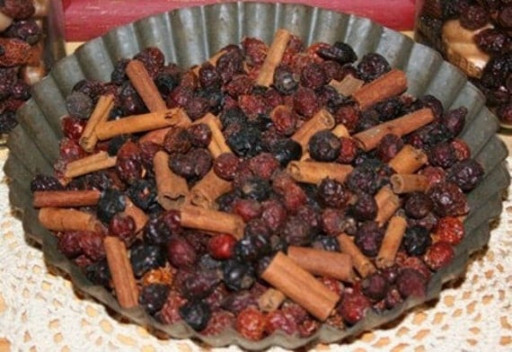 Rose Hips and Cinnamon Sticks Primitive Fixins Scented or Unscented Prim Hips and Sticks Potpourri