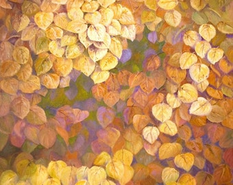Giclee Print - Quaking Aspen leaves - Autumn