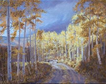 Original Oil Painting - Landscape - Mountain Road - Sunshine