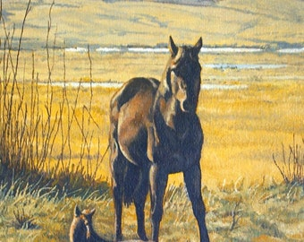 Print - Giclee - Mare and Foal - Ranch - Western