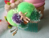 Crazy Baby Pom Pom Hair Comb - SALE