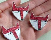 Fox - Small Illustrated Pin Badge
