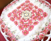 Vintage Hanky ( Pink flowers with yellow centers)