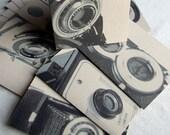 Focus Vintage Cameras Recycled Kraft Paper Card Set (8)