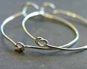 Artisan Silver Knotted Hoop Earrings - In Knots SHINY