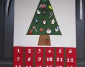 Handmade Christmas Advent Calendar with 24 Ornaments Free US Shipping