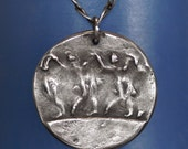 Pendant in Silver - Dancing In The Mist -  No Chain  -  Made to Order