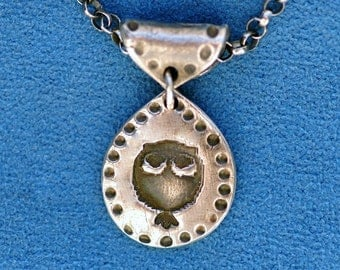 Owl Necklace or Pendant - Silver  - Made to Order