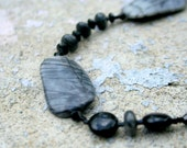 Picasso Jasper Black Beaded Necklace