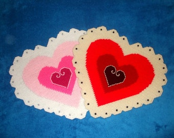 Heart Doilies Wall Hanging Plastic Canvas PDF PATTERN ONLY  **Not Finished Product**