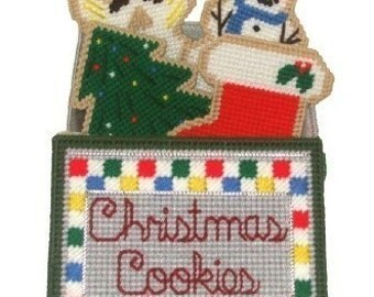 Christmas Cookies Coaster Set Plastic Canvas PDF PATTERN ONLY  **Not Finished Product**