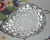 Vintage Glass Grape Serving Dish Depression Era