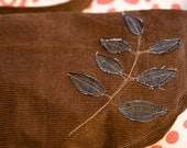 Chocolate Corduroy Small Shoulder Bag (One-of-a-kind)