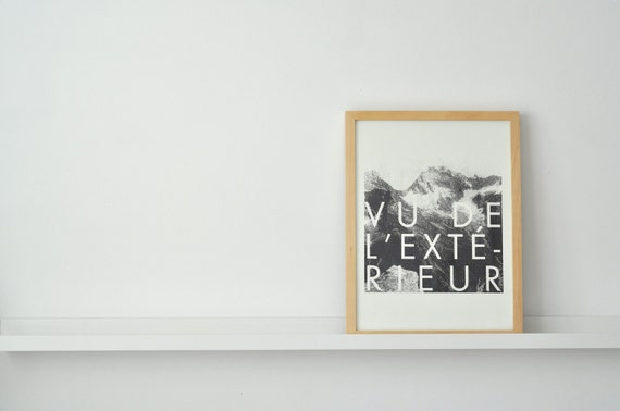 vu de l ext 233 rieur print by fieldguided on etsy