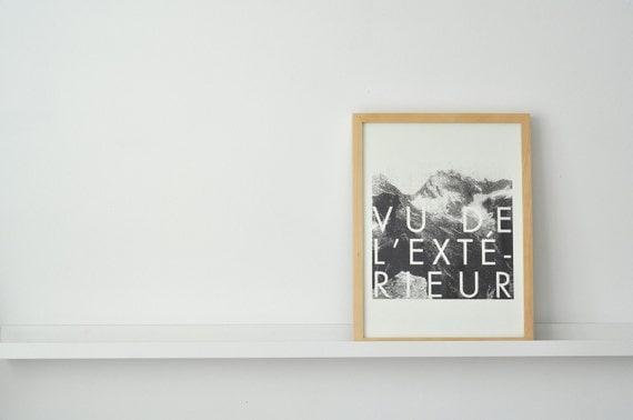 Vu de l 39 ext rieur print by fieldguided on etsy for Gainsbourg vu de l exterieur