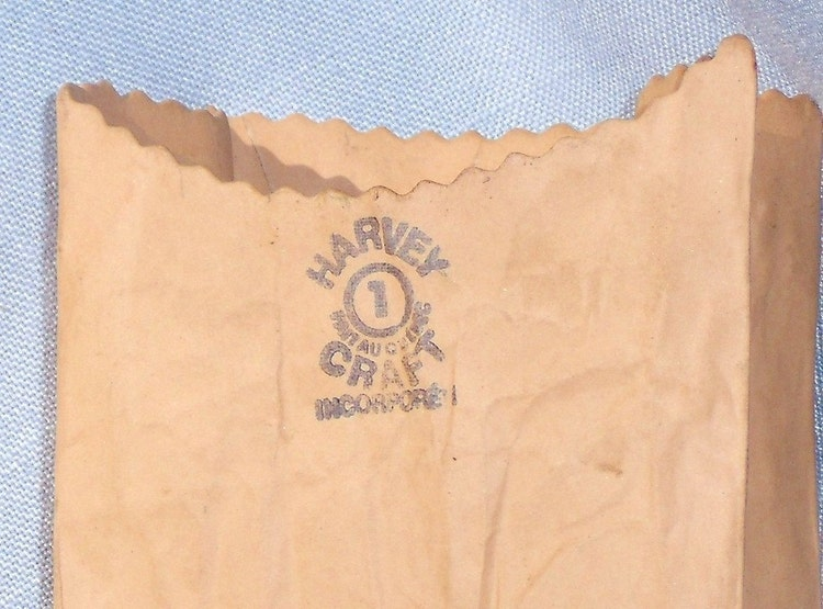 Michel Harvey Ceramic Craft Paper Bag Vase Kraft By