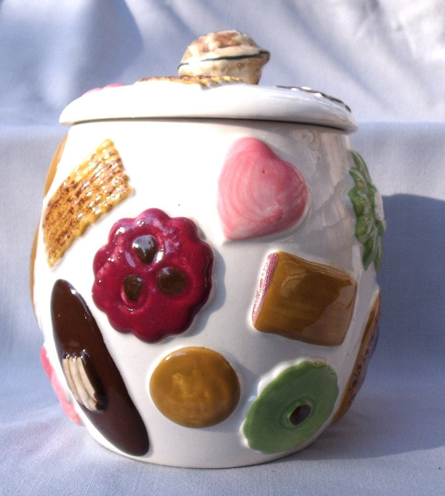 1950 39 S Cookies All Over Cookie Jar By Napco 2K2251