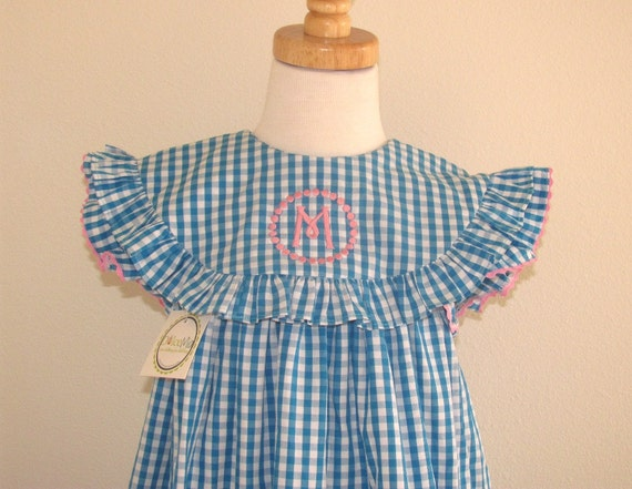 Toddler monogrammed dress, Girl Float dress Float Monogram dress, Girls Monogram dress spring easter sz 2T,3T,4T
