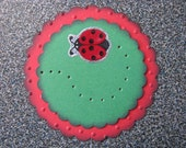 Set of 6 LadyBug Gift Tags Cake Toppers or Card Toppers