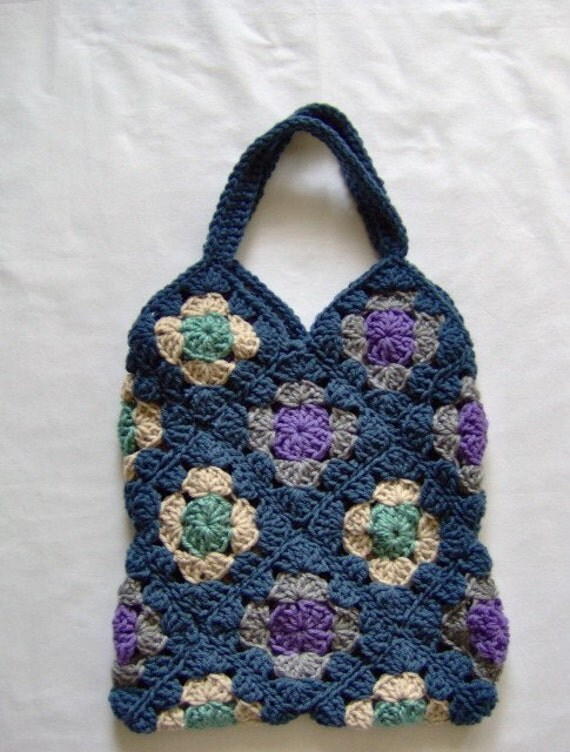 Granny Square Tote Bag : Granny Square Tote Bag by Lmferg1 on Etsy