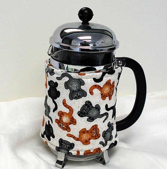 Cat French Coffee Press Cozy
