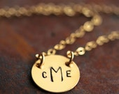 Custom Simplicity Necklace in 14K Gold - Filled - 1/2 inch Hand Stamped Choker